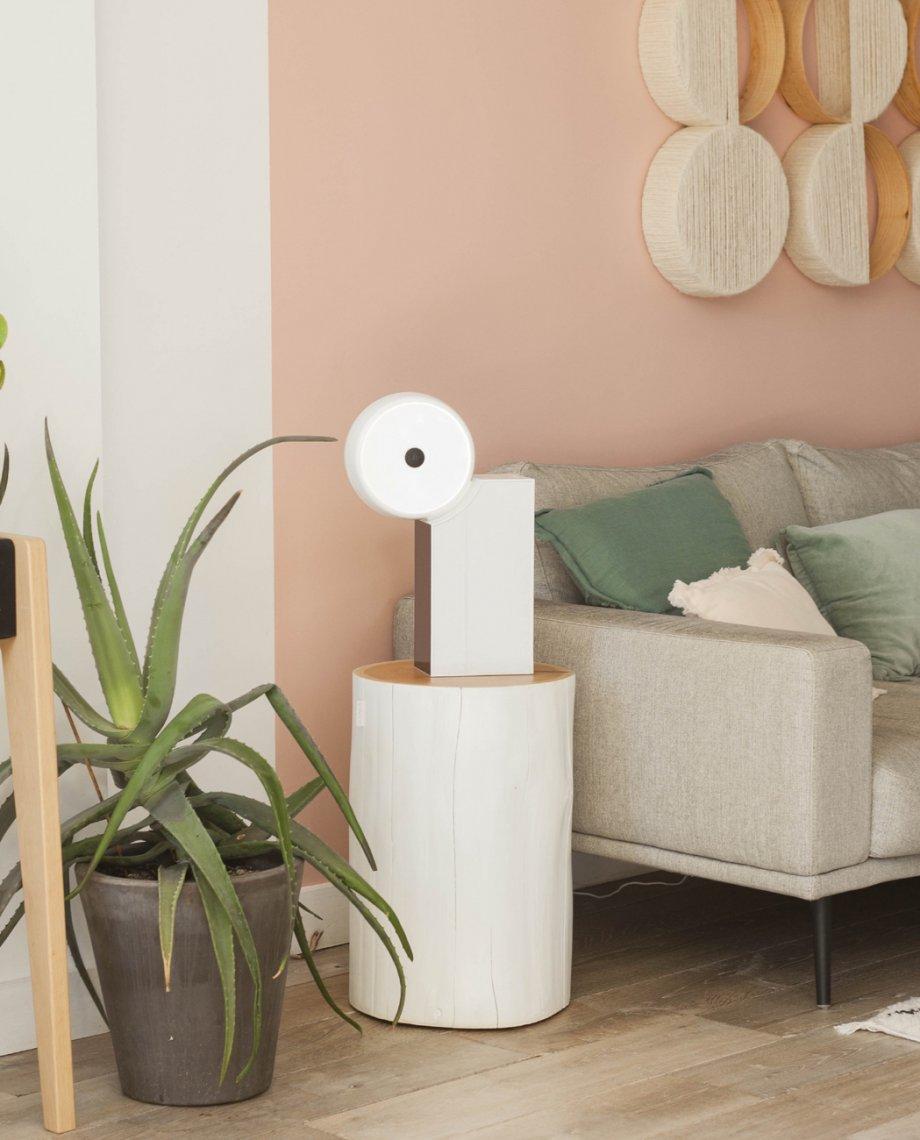 Compoz Compositeur blanc laque parfum ambiance personnalisation design objet connecte intelligent