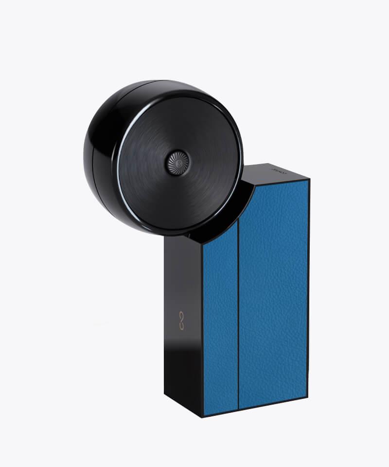 Compoz Compositeur cuir contemporain fonctionnalitees personnalisation diffusion saine objet connecte parfum interieur ambiance maison made in france