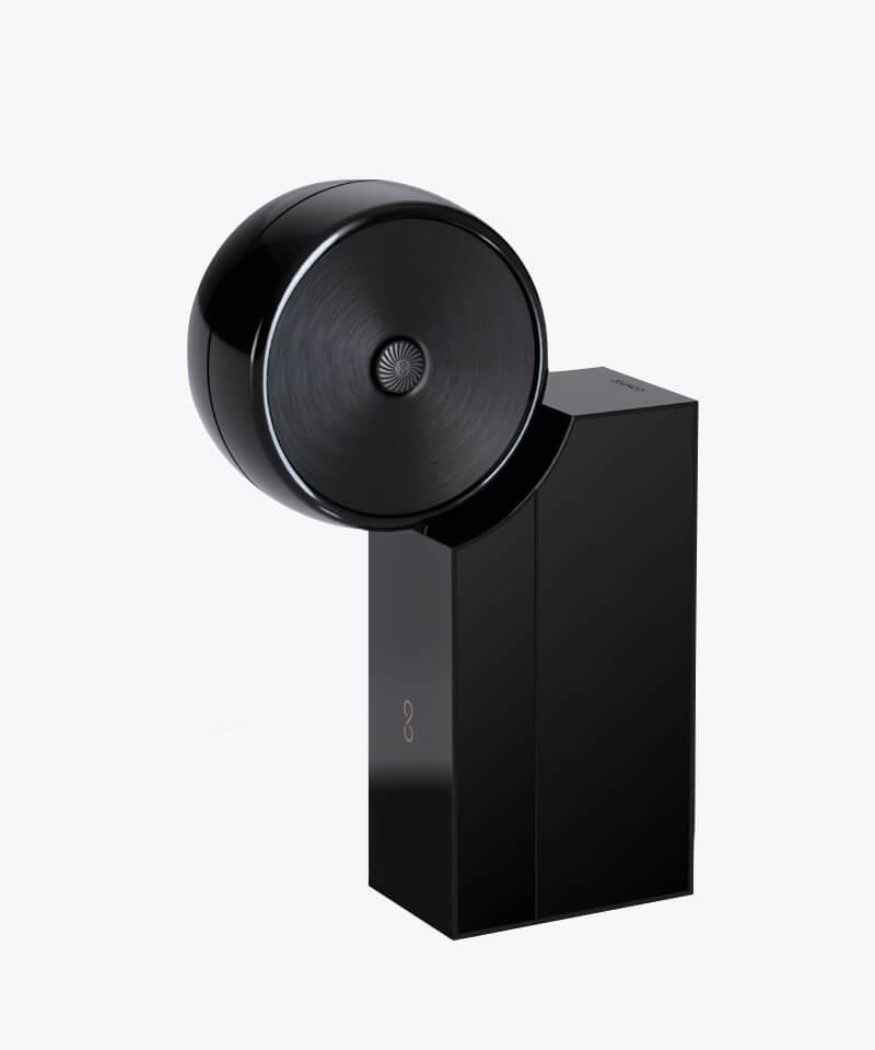 Compoz Compositeur laque noir récapitulatif technologie objet connecté design made in France