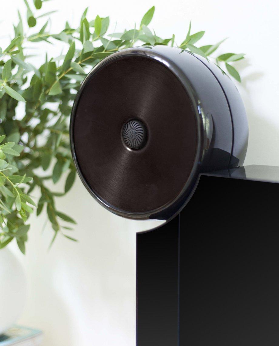 Compoz Compositeur noir laqué parfum ambiance personnalisation design objet connecté intelligent