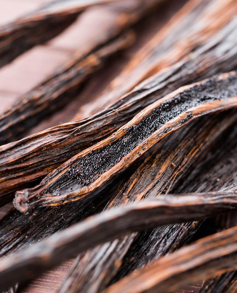 gousse de vanille de madagascar utilisée pour obtenir parfum gourmand